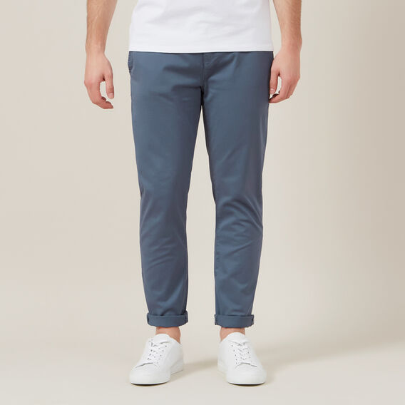 REGULAR FIT STRETCH CHINO PANT  SLATE BLUE  hi-res
