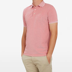 OXFORD PIQUE POLO  MELON  hi-res