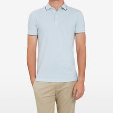 OXFORD PIQUE POLO  SKY BLUE  hi-res