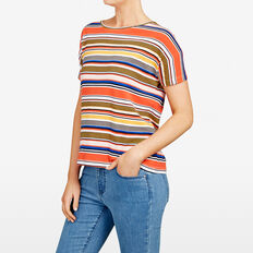 STRIPE TEE  MULTI  hi-res