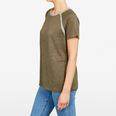 LUREX TRIM TEE  KHAKI  hi-res