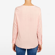 WRAP POPOVER SHIRT  BLUSH  hi-res