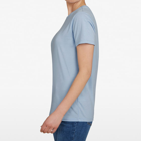 CREW NECK TEE  SEA BLUE  hi-res