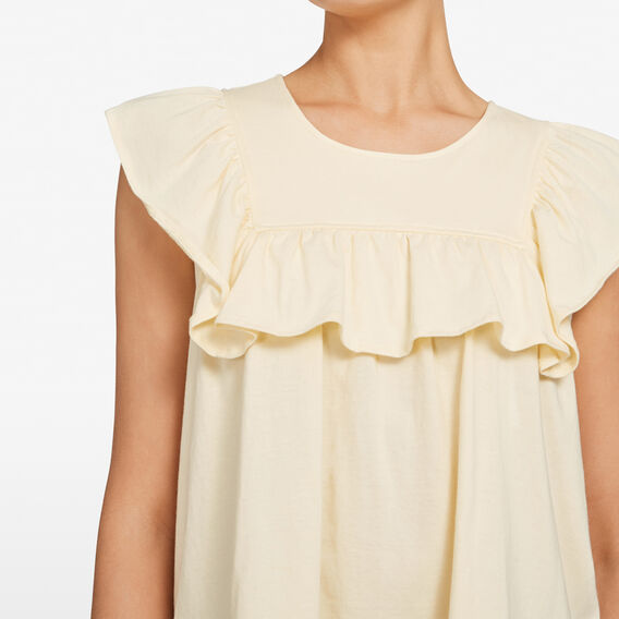 FRILL BABYDOLL TEE  SUNSHINE YELLOW  hi-res