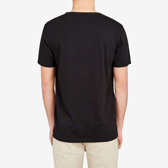 CLASSIC V NECK T-SHIRT  BLACK  hi-res