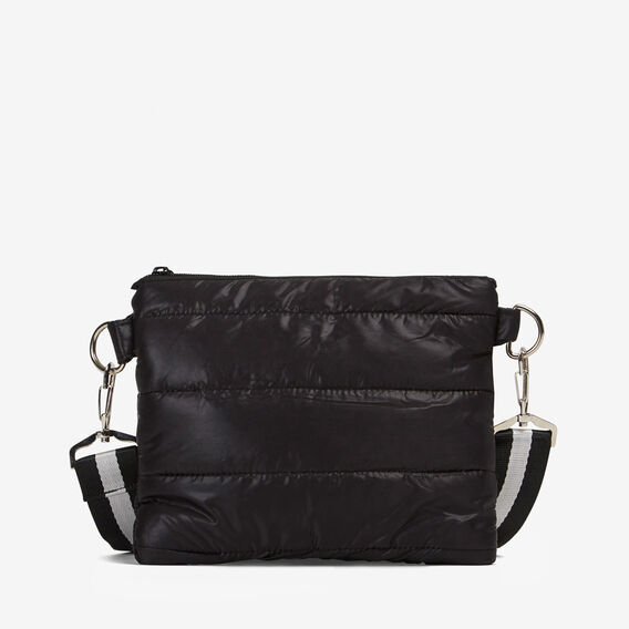 PUFFER ACROSS BODY BAG  BLACK  hi-res