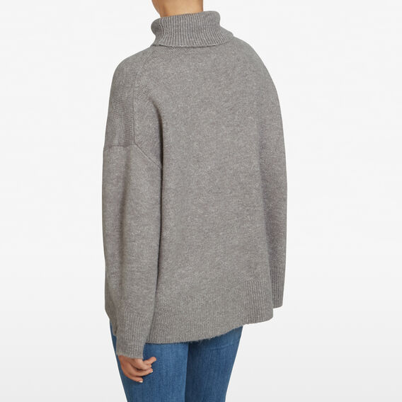 NINA ROLL NECK KNIT  GREY MARLE  hi-res