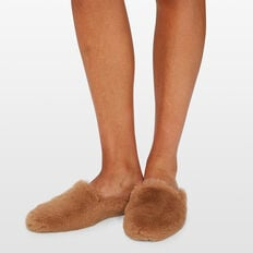 FAUX FUR MULE  TOFFEE  hi-res