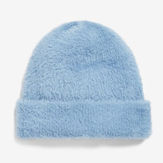 SOFT BLUE FLUFFY BEANIE  SOFT BLUE  hi-res