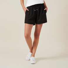 TENCEL SHORT  BLACK  hi-res