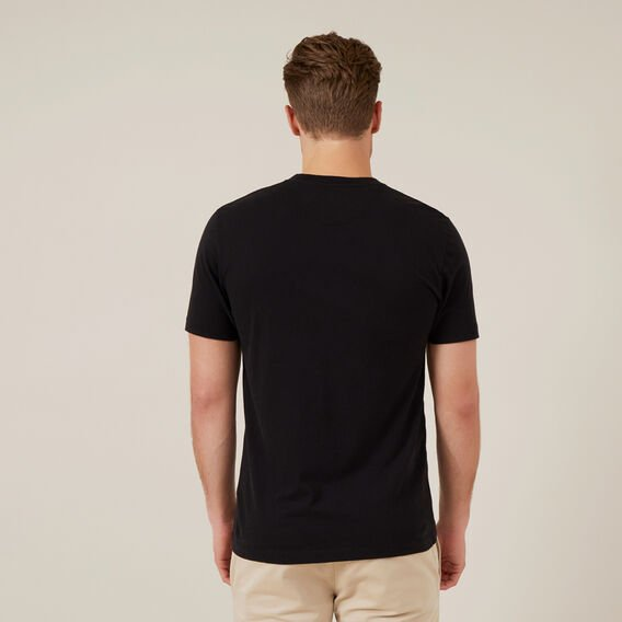 FCUK EMBROIDERED T-SHIRT  BLACK  hi-res