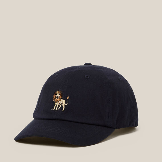 LION EMBROIDERED CAP  MARINE BLUE  hi-res