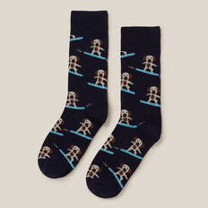 DOG SURFING 1PK SOCKS  MARINE BLUE  hi-res