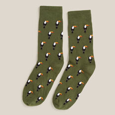 TOUCAN 1PK SOCKS  KHAKI  hi-res