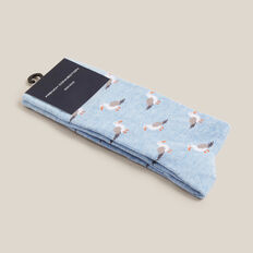 SEAGULL 1PK SOCKS  PALE BLUE MARL  hi-res