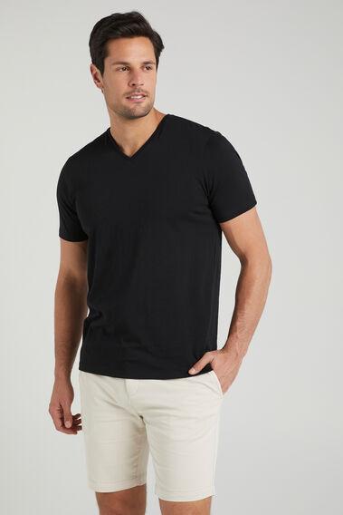 CLASSIC V-NECK T-SHIRT  BLACK  hi-res