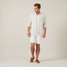 SLIM FIT STRETCH CHINO SHORT  WHITE  hi-res