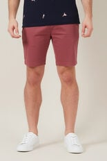 SLIM FIT STRETCH CHINO SHORT  WASHED BERRY  hi-res