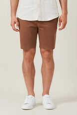 SLIM FIT STRETCH CHINO SHORT  RUST  hi-res
