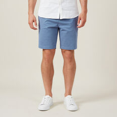 SLIM FIT STRETCH CHINO SHORT  PACIFIC BLUE  hi-res