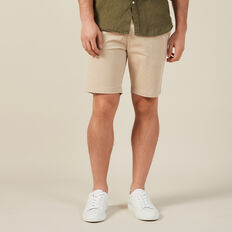 SLIM FIT STRETCH CHINO SHORT  STONE  hi-res