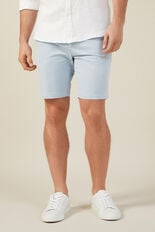 SLIM FIT STRETCH CHINO SHORT  PALE BLUE  hi-res