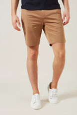 SLIM FIT STRETCH CHINO SHORT  TOBACCO  hi-res