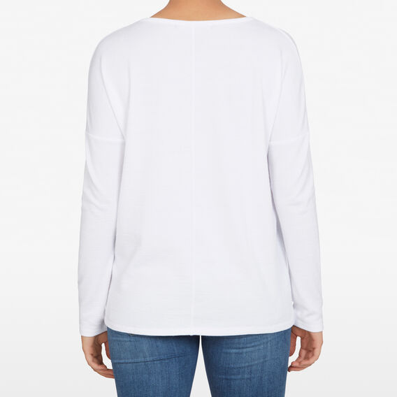SOFT V NECK LONGSLEEVE  OFF WHITE  hi-res