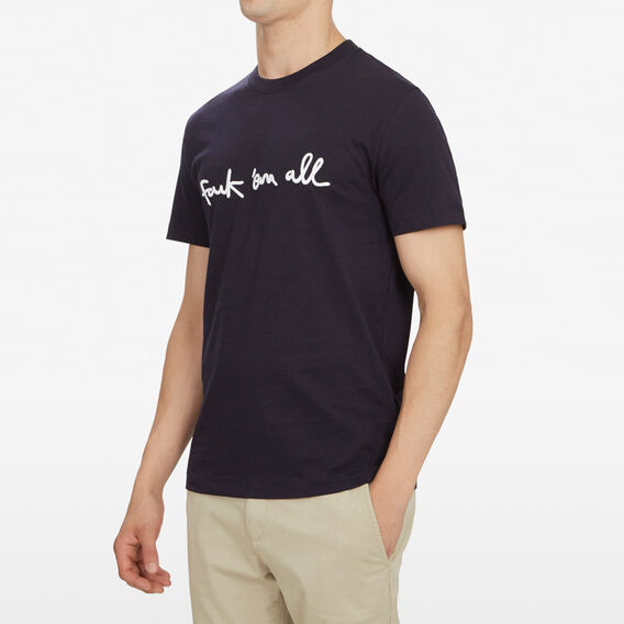 FCUK EM ALL T-SHIRT  UTILITY BLUE  hi-res