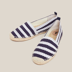 STRIPE ESPADRILLE  WHITE/NAVY  hi-res