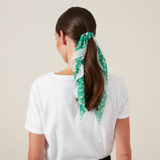 FLORAL NECKERCHIEF  GREEN  hi-res