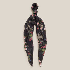 CHEETAH FLORAL SCARF  BLACK  hi-res