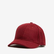 FELT CAP  BURGUNDY  hi-res