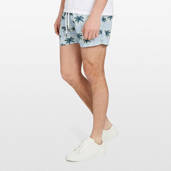 CALIFORNIA PALMS SWIM SHORT  PALE BLUE  hi-res