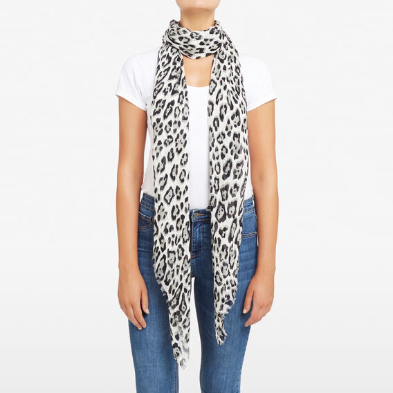 TONAL ANIMAL PRINT SCARF  SOFT GREY/MULTI  hi-res
