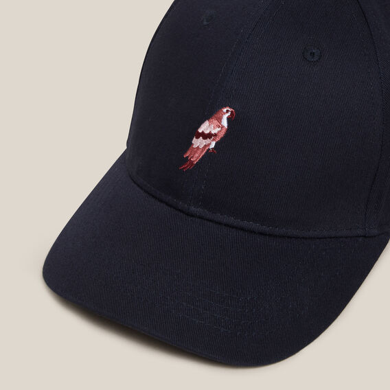 EMBROIDERED PARROT CAP  MARINE BLUE  hi-res