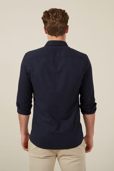OXFORD L/S CUSTOM FIT SHIRT  OXFORD BLUE  hi-res
