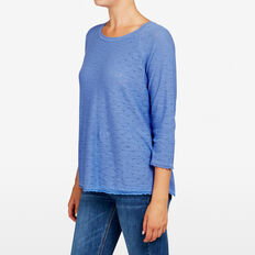 CROSS BACK POINTELLE KNIT  CORNFLOWER  hi-res
