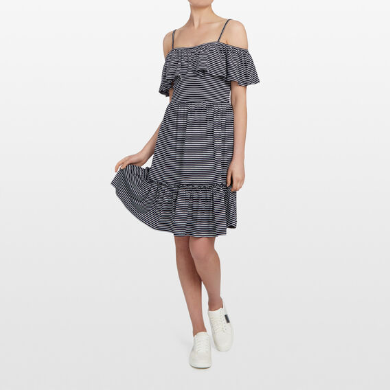 MAXI TIERED DRESS  NOCTURNAL/SUMMER WHI  hi-res