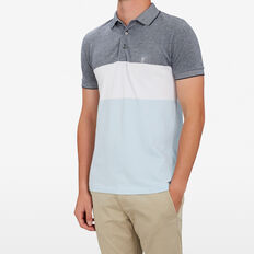 BLOCK STRIPE POLO  BLUE/WHITE/SKY BLUE  hi-res
