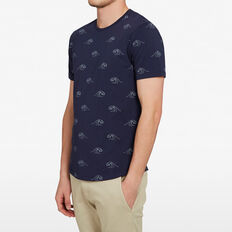 WAVES T-SHIRT  OXFORD BLUE  hi-res