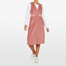 JUMBO CORD DRESS  ROSE PINK  hi-res
