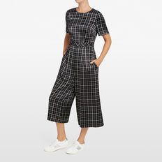 CHECK ME OUT JUMPSUIT  BLACK/OFF WHITE  hi-res