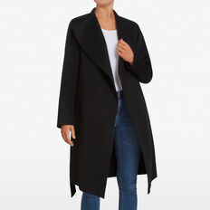 WINTER WRAP COAT  BLACK  hi-res