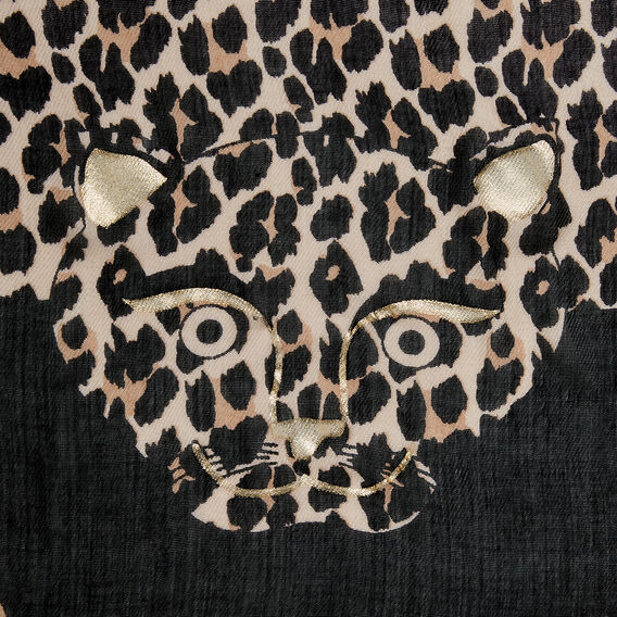 CHEETA ANIMAL PRINT SCARF  MULTI  hi-res