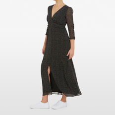 MINI SPOT MAXI DRESS  BLACK  hi-res