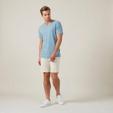 LINEN BLEND T-SHIRT  PALE BLUE  hi-res