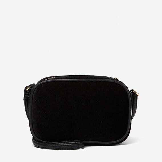 VELVET SHOULDER BAG  BLACK  hi-res