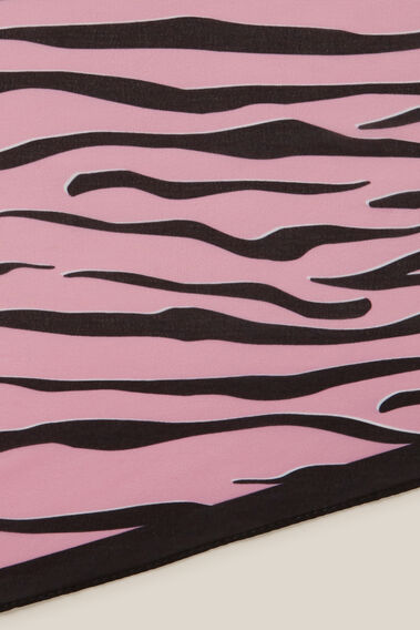 TIGER PRINT NECKERCHIEF  PINK/BLACK  hi-res
