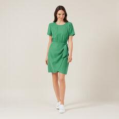 TIE FRONT MINI DRESS  SPRING GREEN  hi-res